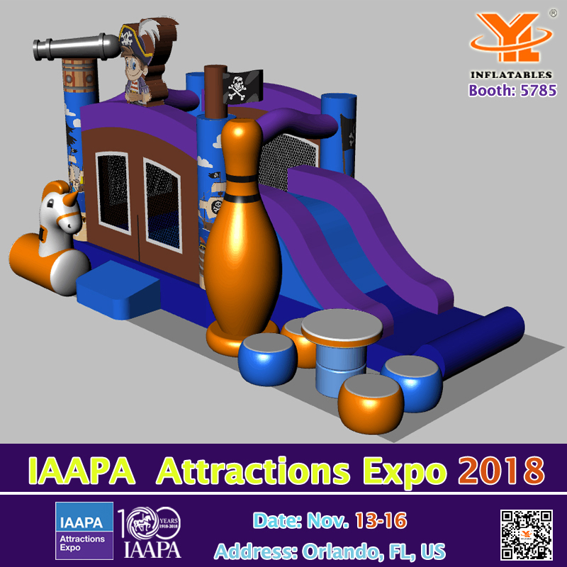 YL Inflatables Exhibitions on IAAPA 2018