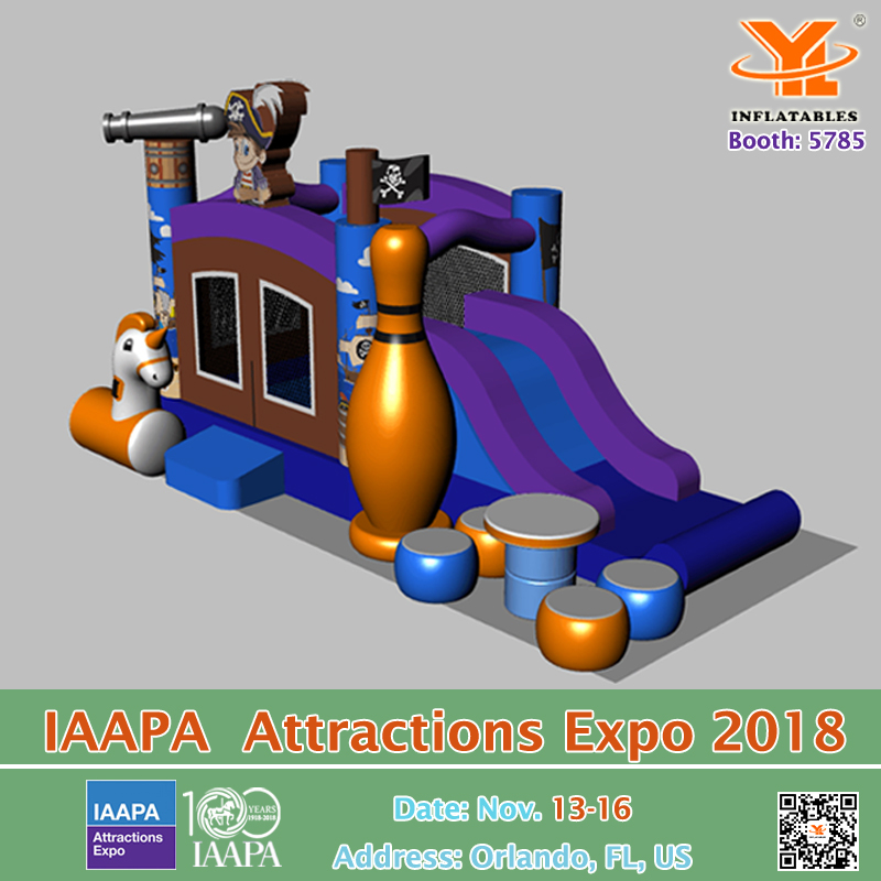IAAPA Attractions Expo 2018 YL Inflatables Booth5875