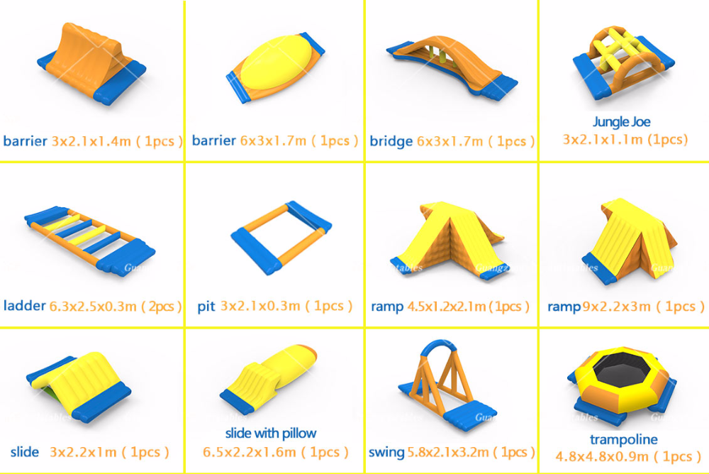 Inflatable water toys quotation, OEM Guangzhou Supplier Inflatable Water Park Game Model