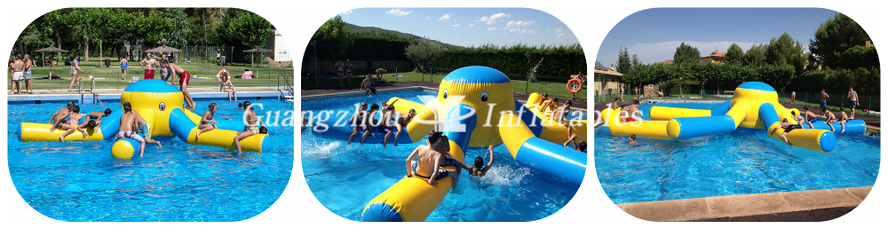 inflatable water octopus games for swimming pool for kids