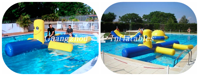 Inflatable water dogs for swimming pool
