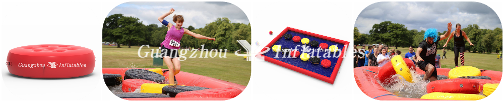 Inflatable Wobbly Lifeboat (closed air cushions) for pool games